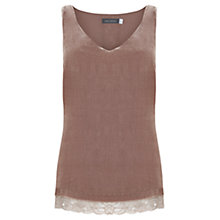 Buy Mint Velvet Lace Trim Velvet Cami Online at johnlewis.com