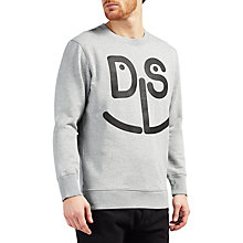 Buy Diesel S-Joe-MB Graphic Face Sweatshirt, Light Grey Melange Online at johnlewis.com