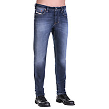 Buy Diesel Larkee-Beex 0860L Stretch Tapered Jeans, Mid Blue Online at johnlewis.com