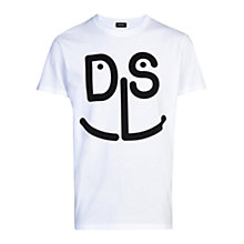 Buy Diesel T-Diego-MD Sailor Logo T-Shirt, White Online at johnlewis.com