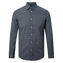 Buy Diesel S-Blanca Allover Diamond Print Shirt, Peacoat Blue Online at johnlewis.com