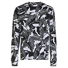 Buy Diesel T-Joe-LS Camo Leaf Print Long Sleeve T-Shirt, Grey Online at johnlewis.com