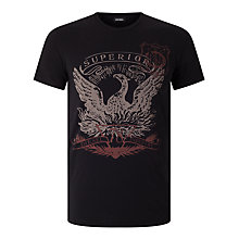 Buy Diesel T-Diego-MZ 'Superior' Eagle Logo T-Shirt, Black Online at johnlewis.com