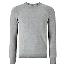 Buy Diesel K-Bonis Crew Neck Jumper, Grey Online at johnlewis.com