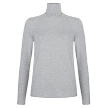 Buy Hobbs Mischa Roll Neck Jumper, Silver Grey Marl Online at johnlewis.com
