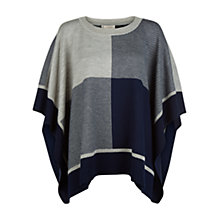 Buy Hobbs Blake Poncho, Navy Grey Mel Online at johnlewis.com