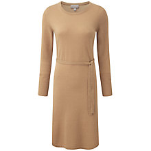 Buy Pure Collection Skyler Cashmere Dress, Soft Walnut Online at johnlewis.com
