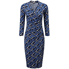 Buy Pure Collection Abstract Print Joyce Side Wrap Dress, Navy Online at johnlewis.com