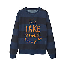 Buy Mango Kids Boys' Stripe Sweatshirt, Blue Online at johnlewis.com