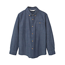 Buy Mango Kids Boys' Stripe Cotton Shirt, Dark Blue Online at johnlewis.com