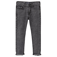 Buy Mango Kids Boys' Slim Fit Jeans, Black Denim Online at johnlewis.com