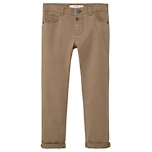 Buy Mango Kids Boys' Straight Fit Trousers, Beige Online at johnlewis.com