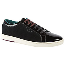 Buy Ted Baker Mirete 2 Suede and Velvet Trainers, Dark Blue Online at johnlewis.com