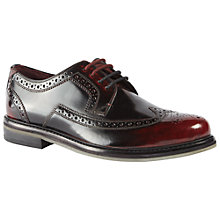 Buy Ted Baker Ttanum 3 Leather Brogues, Dark Red Online at johnlewis.com