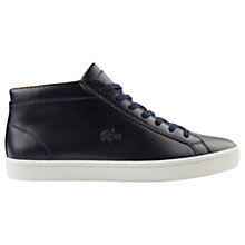 Buy Lacoste Straightset Chukka Leather Trainers, Navy Online at johnlewis.com
