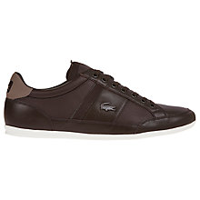 Buy Lacoste Chaymon Trainers, Dark Brown Online at johnlewis.com
