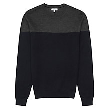 Buy Reiss Barten Colour Block Jumper, Navy Online at johnlewis.com