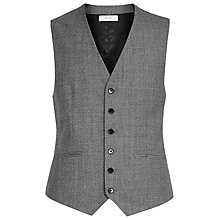 Buy Reiss Delliston Wool Mix Slim Waistcoat, Light Grey Online at johnlewis.com