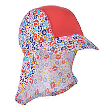 Buy John Lewis Children's Floral Print Keppi Swim Hat, Multi Online at johnlewis.com