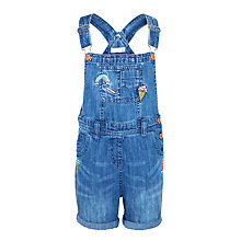 Buy John Lewis Girls' Badged Bib Shorts, Blue Online at johnlewis.com