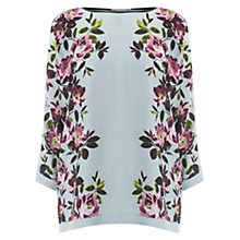 Buy Oasis Painted Rose Knit Top, Pale Grey Online at johnlewis.com