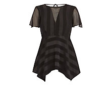 Buy Coast Alonya Peplum Top, Black Online at johnlewis.com