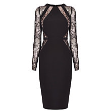 Buy Coast Leonoria Lace Panel Dress, Black Online at johnlewis.com