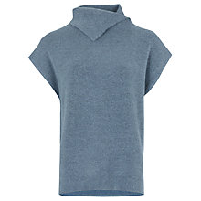 Buy Warehouse Split Neck Boucle Jumper, Light Blue Online at johnlewis.com