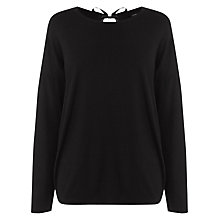 Buy Warehouse Tie Back Top, Black Online at johnlewis.com