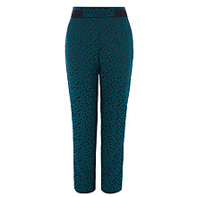 Buy Coast Steller Jacquard Trousers, Forest Online at johnlewis.com