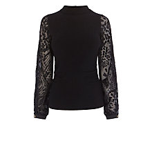 Buy Coast Slavia Knit Top, Black Online at johnlewis.com