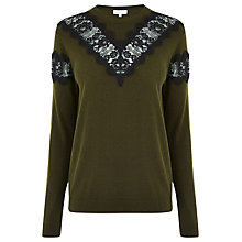 Buy Warehouse Lace Insert Jumper Online at johnlewis.com