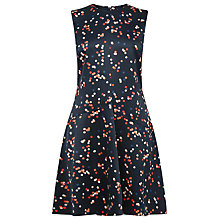 Buy Warehouse Confetti Spot Dress, Blue Pattern Online at johnlewis.com