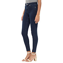 Buy Oasis Lily Ankle Grazing Jeans, Navy Online at johnlewis.com