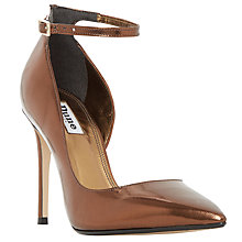 Buy Dune Clementine Asymmetric Stiletto Court Shoes Online at johnlewis.com