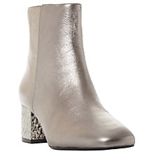 Buy Dune Oxbow Block Heeled Ankle Boots Online at johnlewis.com