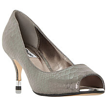 Buy Dune Debbi Peep Toe Stiletto Sandals, Pewter Online at johnlewis.com