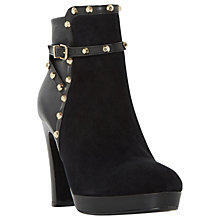 Buy Dune Oreon Studded Block Heeled Ankle Boots, Black Online at johnlewis.com