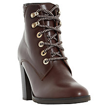 Buy Dune Paisley Lace Up Ankle Boots Online at johnlewis.com