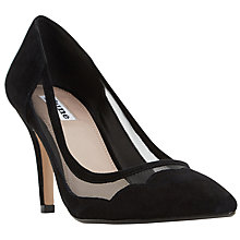 Buy Dune Bunnie Pointed Toe Court Shoes, Black Online at johnlewis.com