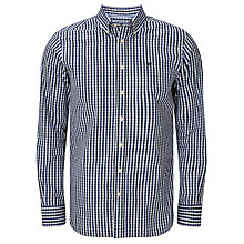 Buy Hackett London Classic Check Shirt, Navy Online at johnlewis.com