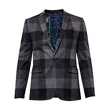 Buy Ted Baker Clark Statement Checked Jackett, Grey Online at johnlewis.com