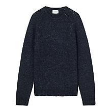 Buy Jigsaw Two Tone Wool Cotton Crew Neck Jumper Online at johnlewis.com