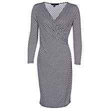 Buy Yanny London Wrap Dress, Black/White Online at johnlewis.com