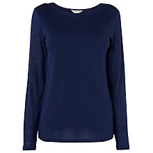Buy L.K. Bennett Ella Double Front Top, Blue Online at johnlewis.com