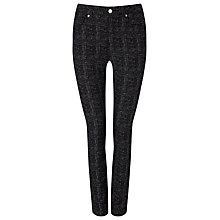Buy Phase Eight Aida Speckled Jeans, Black/White Online at johnlewis.com