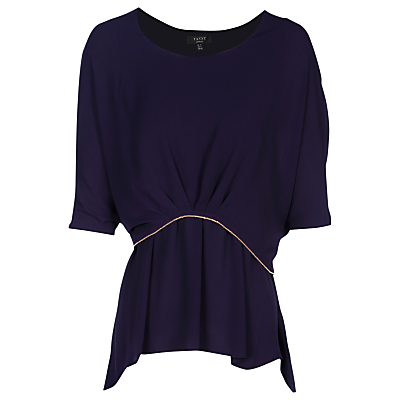 Yanny London Drape Layered Blouse, Purple