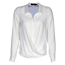 Buy Yanny London Twist Detail Button Down Blouse, White Online at johnlewis.com