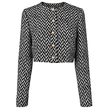 Buy L.K. Bennett Karla Herringbone Jacket, Black/Cream Online at johnlewis.com