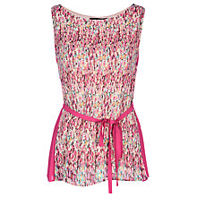 Buy Yanny London Print Sleeveless Blouse, Multi Online at johnlewis.com